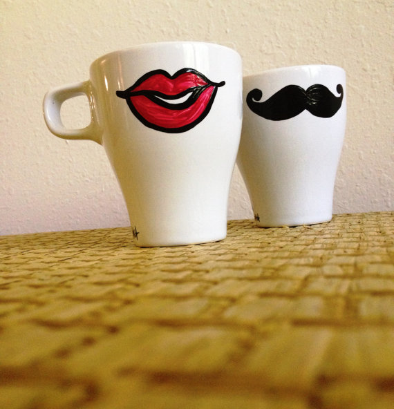 mustache and lips mug