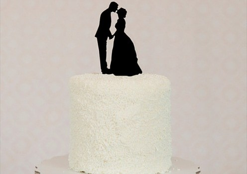 silhouette_cake_topper_wedding