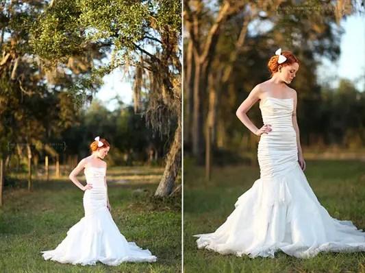 silk bridal bow