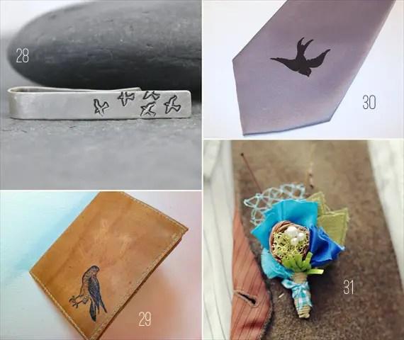 bird wedding groomsmen gift ideas