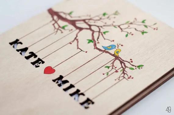 bird wedding guest book