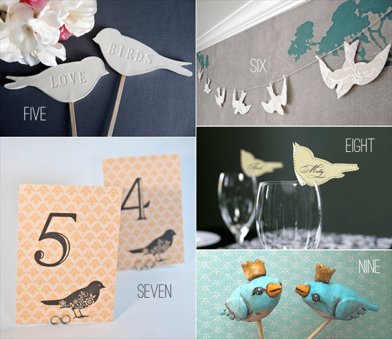 bird wedding decor ideas