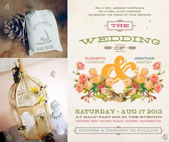 bird wedding seed, bird cage, bird wedding invitations