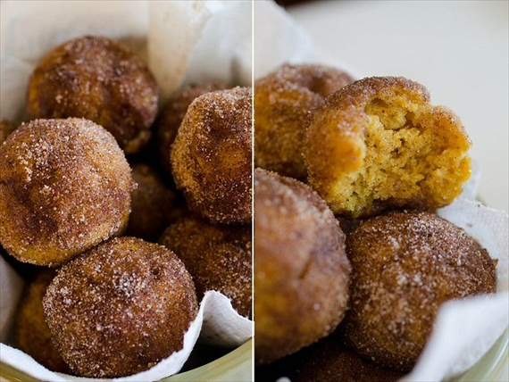 baked pumpkin spice donut holes - fall desserts for weddings