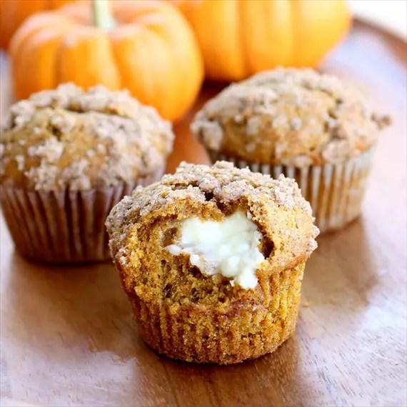 pumpkin cream cheese muffins - fall desserts for weddings
