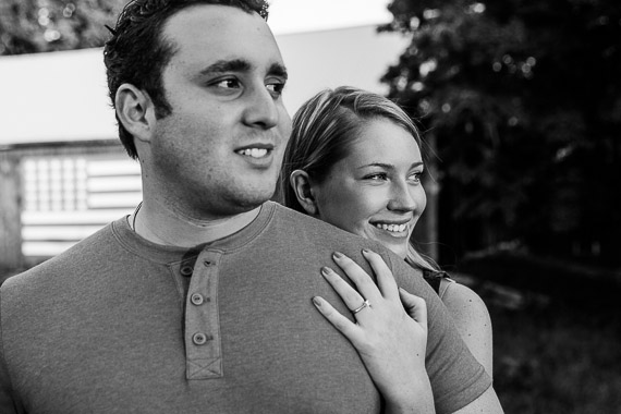 Annie & Josh's Engagement - engaged couple smiling