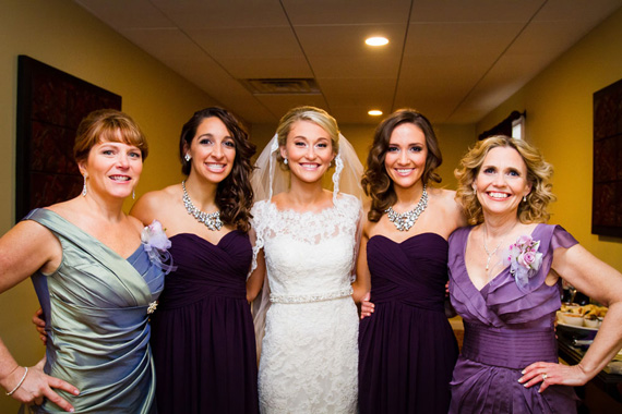 Wedding of Caitlin & Ben at The Villa - bride, mothers, bridesmaids