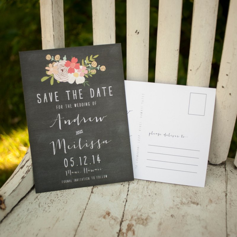 Chalkboard | Save the Date Postcards