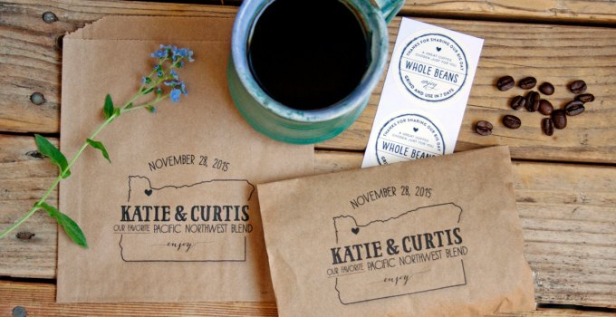 Cute State Themed Wedding Coffee Bags