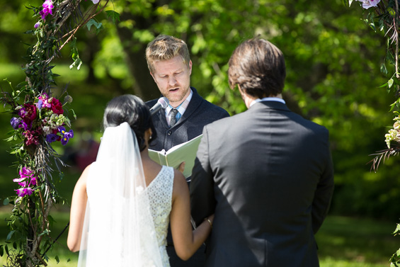 Daniel Fugaciu Photography - bride and groom ceremony - tyler arboretum wedding
