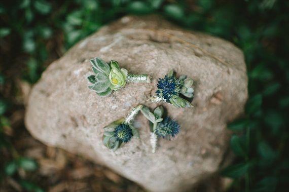 rustic boutonnieres wrapped in twine - michelle gardella photography - Handmade Connecticut Wedding