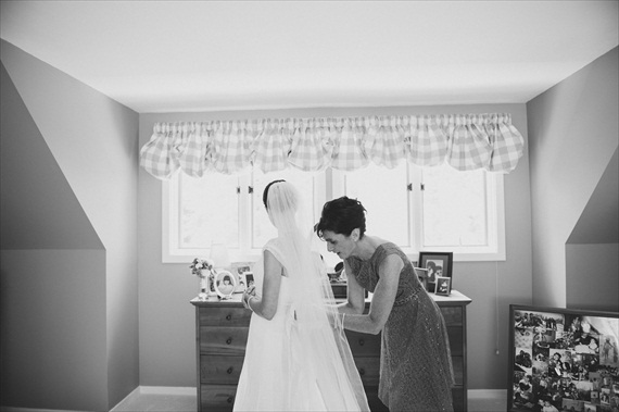 mom helping the bride get ready - michelle gardella photography - Handmade Connecticut Wedding