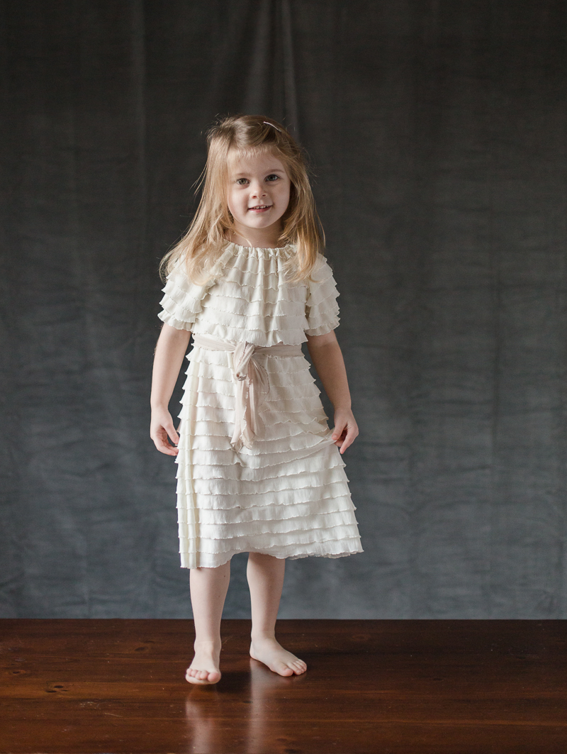 flower girl dress with short sleeves - everything ruffles