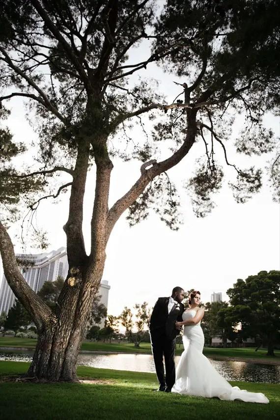 Imagine Studios - bride and groom las vegas country club