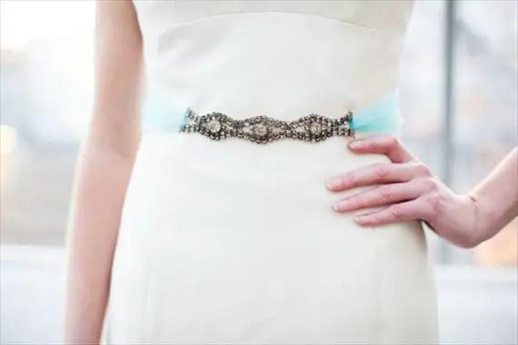 Something Blue Dress Sash - The Ritzy Rose