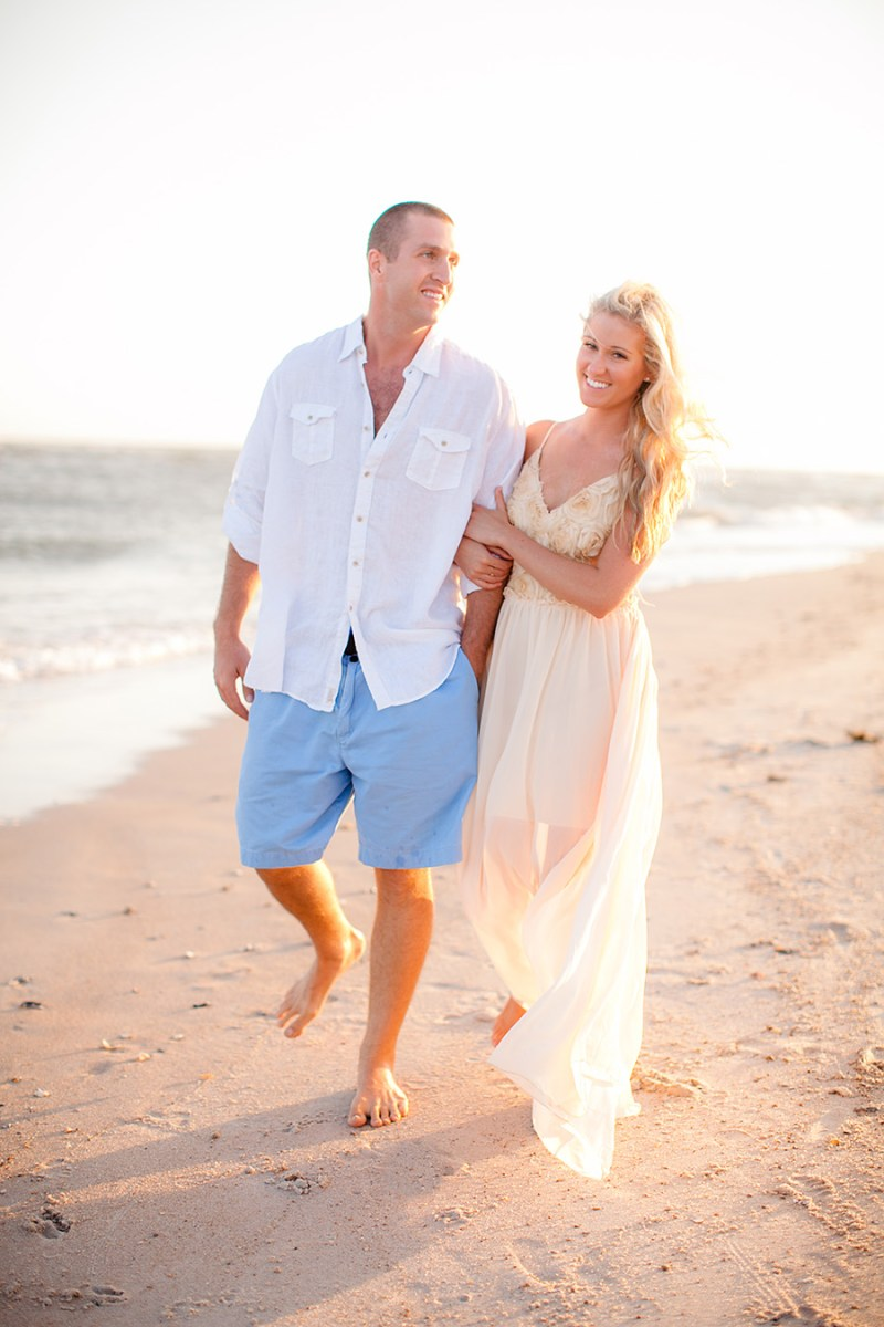 Topsail Island couple's engagement session