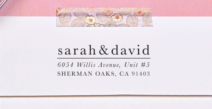 address stamp from letter2love