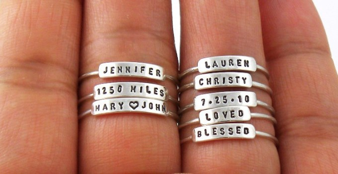 adorable mini rings personalized