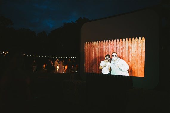 Americana Wedding:  rustic photo booth (photo: michelle gardella)
