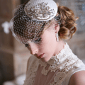 art deco wedding veil