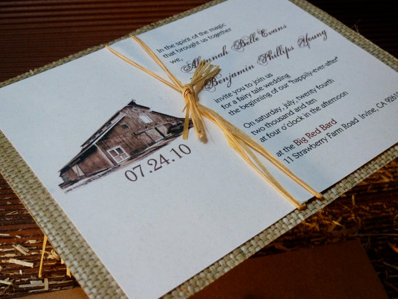 barn wedding invitation - Invitations for Wedding Themes