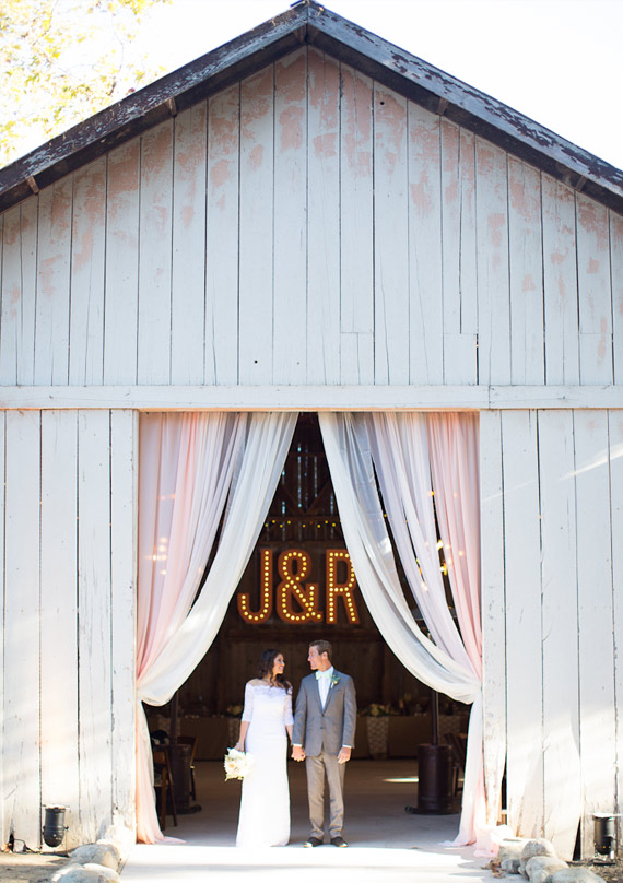 barn wedding marquee lights