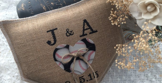 baseball ring pillow blessed in love