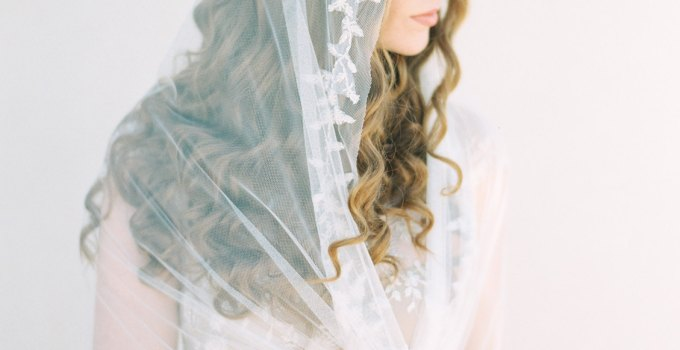 beaded chapel length mantilla veil