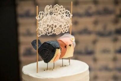 bird cake topper real wedding