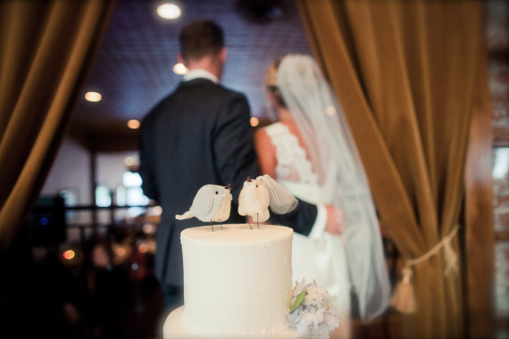 Bird Themed Wedding - Bird Cake Toppers by Cinnamon Birds