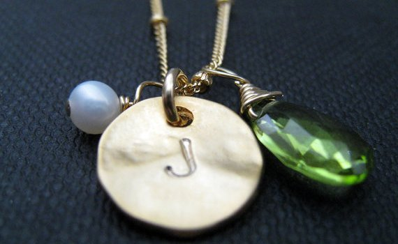 birthstone necklace bridesmaids