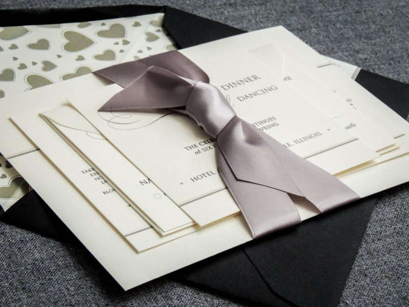 Black and White Wedding Invitations - Traditional