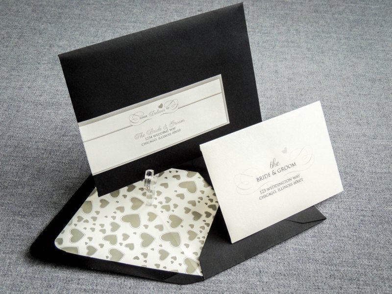 Black and White Wedding Invites