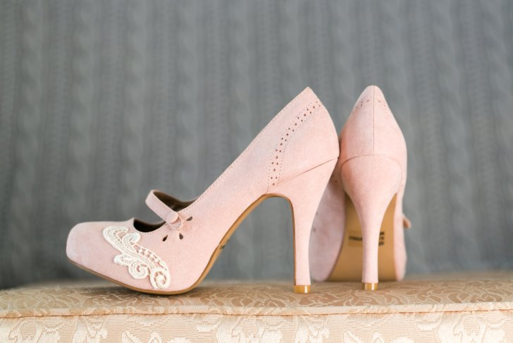 blush lace platforms wedding shoes for bride | via http://emmalinebride.com/bride/wedding-shoes-for-bride/