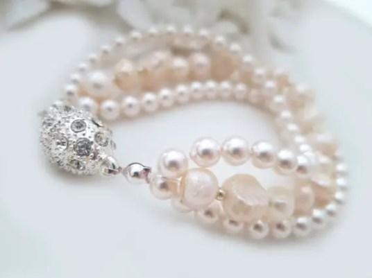 blush ivory pearl bracelet photo two