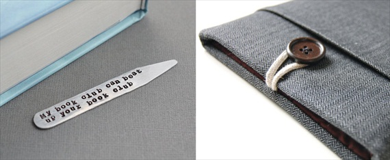 Bridesmaid Gift Giving Rules: bookmark by The Copper Fox, e-reader cover by Bertie's Closet