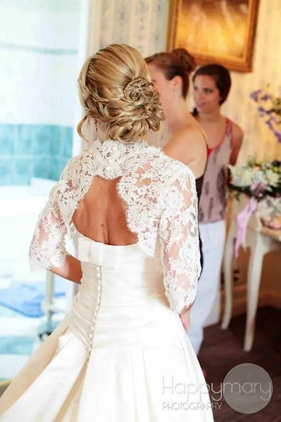bridal cover ups lace keyhole back