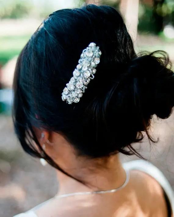 bridal rhinestone comb