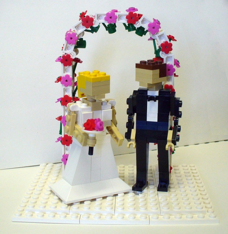 Lego Wedding Cake Toppers - flower arch