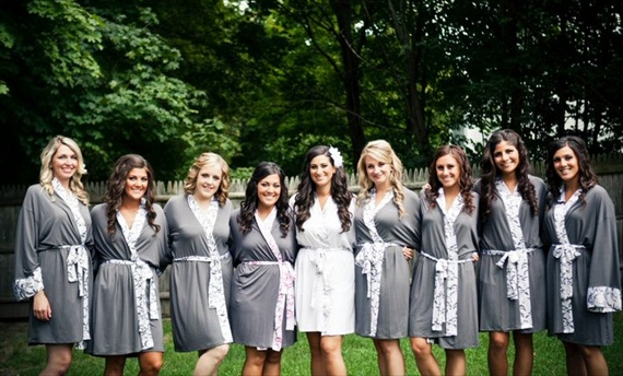 Bridesmaid Gift Giving Rules: robes by Doie, photo by Katie Hall