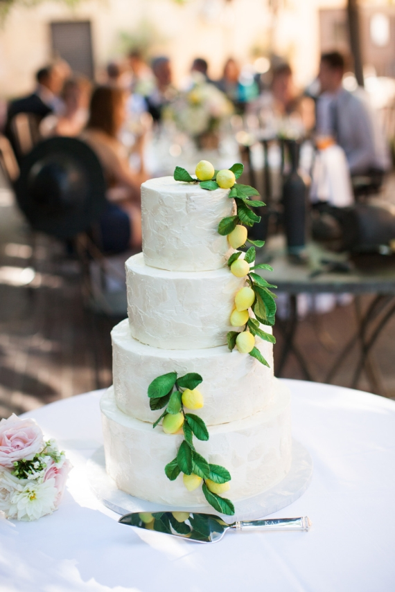 Wedding Cake Cascading Lemons via 30 Wedding Cakes via EmmalineBride.com