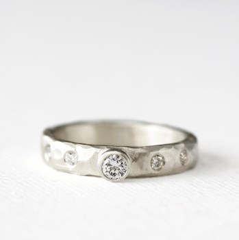 carved diamond ring