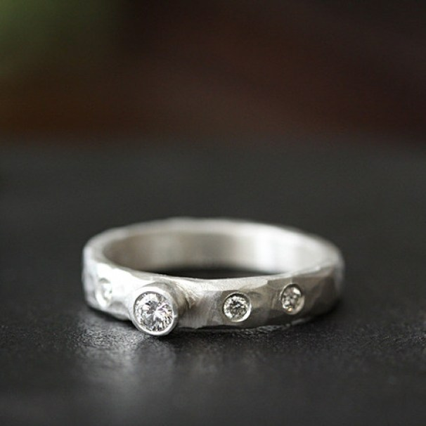 Rustic Diamond: Rustic Diamond Ring