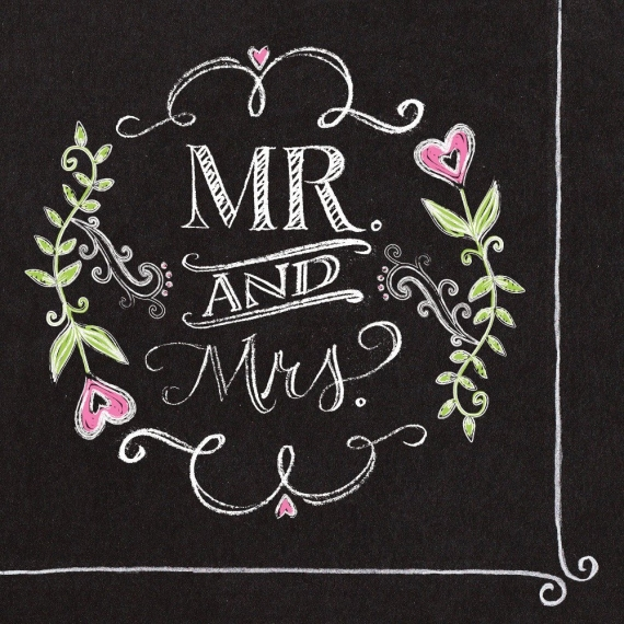 chalkboard wedding cocktail napkins