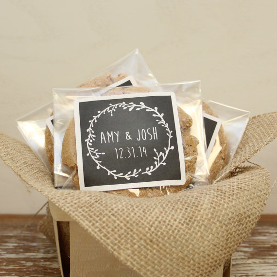 chalkboard wedding favor cookie bags