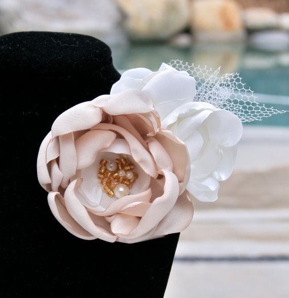 Champagne Bridal Brooch