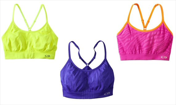 Top 20 Fitness Accessories (via EmmalineBride.com): #8 Colorful, Oh-So-Comfy Sports Bras