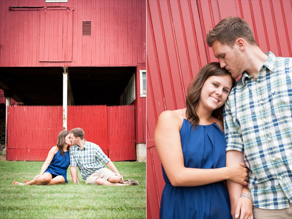 Scott Smith Photography - Pennsylvania engagement session - couple stands by red barn
