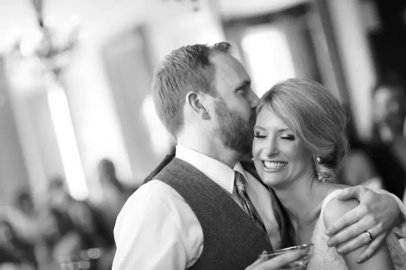 The groom kisses his bride | Photographer: Melissa Prosser Photography | via http://emmalinebride.com/real-weddings/colleen-ryans-lovely-savannah-wedding-at-the-mansion-on-forsyth-park