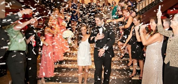 confetti grand exit at wedding
